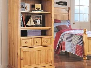 书房蜜色书架展示柜储物柜,置物架,美式家具比邻风格,收纳柜,