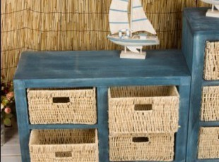 坡上原岗 地中海风格做旧家具 出口品质收纳柜整理杂物柜装饰柜,收纳柜,
