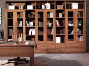 康诺威 书房家具北欧 实木双门组合书柜 板式文件柜 自由组合2001,收纳柜,