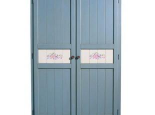 ZOLA HOME 美克美家 比邻乡村 普林斯特二门衣柜-新蜂蜜/蓝色,收纳柜,
