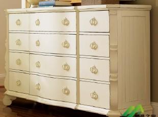 地中海风格 白色做旧 乡村田园家具  美晨之家家具定做定制 斗柜,收纳柜,