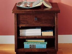 实木床头柜 简约美式 小木匠实木家具 苏门系列BP-SCTG01,收纳柜,