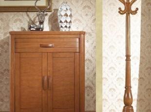 雨海棠木 现代北欧风格 时尚简约鞋柜 纯实木家具二门玄关门厅柜,收纳柜,