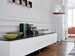 北欧风 白色烤漆 电视柜/视听组合 家具定制  住意家居ideathome,收纳柜,