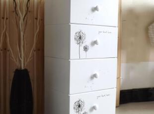 高档健康PU漆田园实木抽屉床头收纳衣柜自由组合床头柜拆装斗柜,收纳柜,