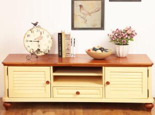 航海家电视柜 小百叶造型 统一系列茶几 床头柜...地中海的清新白,收纳柜,