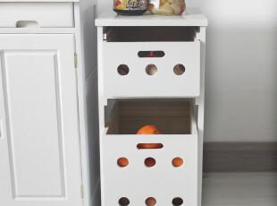 【九信】日式实木家具餐边柜 厨房储物柜 蔬菜收纳柜 果蔬碗碟柜,收纳柜,