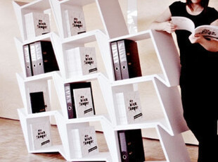 定制书架 玻璃钢搁板架 定做 创意简易书柜 设计师家具 置物架,收纳柜,