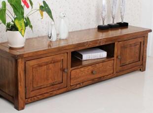 外贸复古仿古原单纯实木白橡木非柞木家具宜家1.8m电视柜视听柜橱,收纳柜,
