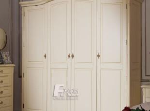 为家居 法式家具 卧室家具 欧式田园床 四门衣柜 法式衣柜,收纳柜,