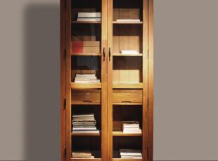 品睐居 简约欧式田园地中海风格 实木家具套装 宜家玻璃书柜书架,收纳柜,