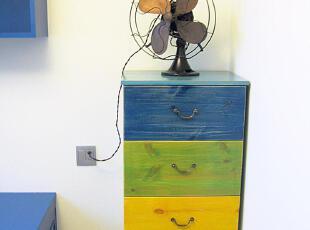 实物拍摄!地中海家具 实木 童话王国 四色斗柜 抽屉柜【预定】00,收纳柜,