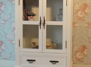 韩式家具欧式田园白色酒柜 隔断书柜子 餐边柜 储物柜 展示柜特价,收纳柜,