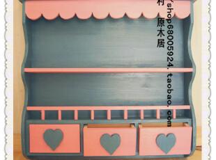 韩式田园风格吊柜 展示柜 实木家具定做,收纳柜,