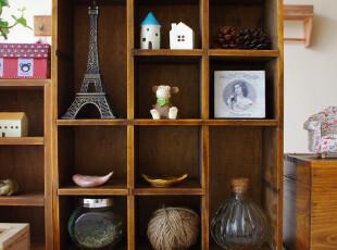 知暖阁 ZAKKA风格 10格小木柜 储物柜 收纳柜,收纳柜,