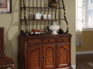美式家具欧式餐边柜欧式实木家具乡村实木家具:赫斯特堡餐边柜,收纳柜,