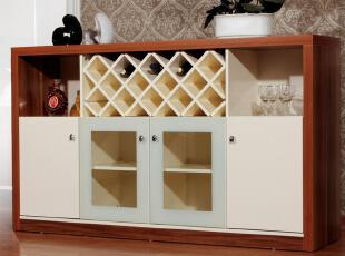 旺迪酒柜餐边柜收纳柜带门储物柜白色现代简约矮柜子南方家私烤漆,收纳柜,
