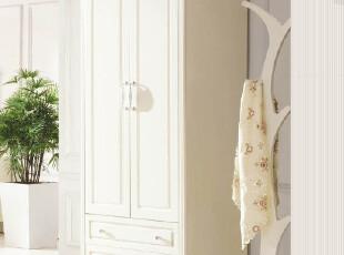 韩式田园风格家具两门衣柜实木衣柜简便衣柜简易木质衣柜215,收纳柜,