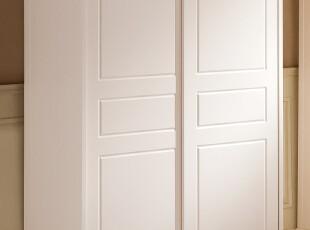 韩式田园风格家具 木质衣柜 白色衣柜 烤漆衣柜 松木大衣橱D07,收纳柜,