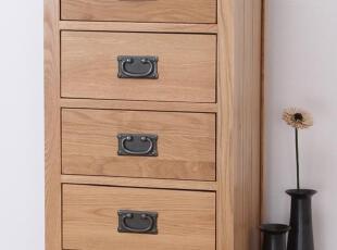 100%实木家具 美国进口白橡木非柞木 橡木斗柜 五抽柜 五斗橱,收纳柜,