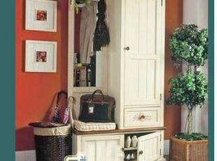 叶子 实木门厅柜 衣柜 可定做 地中海风格美式风格全白色 包邮,收纳柜,