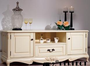 添倍新品牌 正品浪漫玫瑰法式田园电视柜 实木韩式客厅地柜A101,收纳柜,
