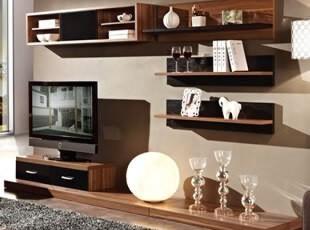 装典 北欧风格 浅胡桃 客厅 地柜 电视柜 组合 包物流 JR1G008,收纳柜,