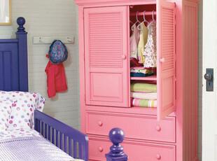 2012地中海田园比邻乡村百叶双两开门卧室实木衣柜家具可定制,收纳柜,