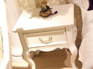 德家家具 欧式宫廷套房 实木床头柜 欧式 储物柜 901-2,收纳柜,