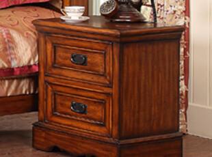 家具 床头柜 实木 白蜡木  经典美式乡村风格 白蜡木 带抽屉,收纳柜,