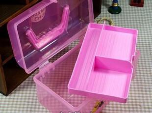 特~超萌可爱维尼熊收纳箱 化妆箱 药箱 文具箱 杂物箱 手提画具箱,收纳箱,