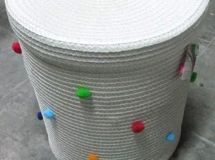 外贸原单草编收纳箱/收纳桶/储物箱带盖 三件套 ikea宜家风格,收纳箱,