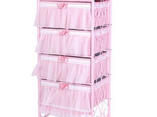 新品7折 公主粉色收纳衣服收纳柜储物柜 多层收纳箱抽屉,收纳箱,
