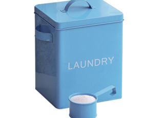 欧润哲 包邮蓝色洗衣粉桶 茶几收纳盒收纳箱大号有盖韩国家居用品,收纳箱,