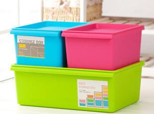 韩版家居 收纳箱 时尚简约塑料储物箱 整理箱 收纳盒有盖 可叠加,收纳箱,
