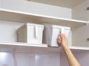日本进口正品 SANADA厨房塑料收纳箱食品收纳盒5022把手带盖 R208,收纳箱,