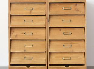 百叶窗收纳箱 五抽收纳箱 实木收纳箱 日单收纳箱 简约收纳箱,收纳箱,