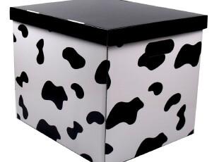 新款防水收纳箱 奶牛纹大号整理箱 黑白色储物箱宜家系列,收纳箱,