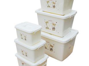 限时特价柳叶大号塑料整理箱收纳箱储物箱收纳盒 江浙沪2个包邮,收纳箱,