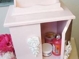 【玲玲七】韩国直发玫瑰花粉色浮雕储物柜 收纳箱 整理箱 储物箱,收纳箱,
