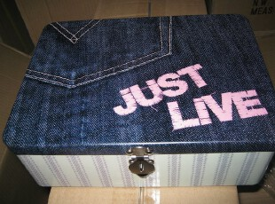 套装金属带锁收纳箱储物箱私人物品收纳盒铁皮盒03,收纳箱,
