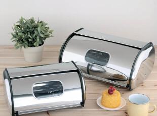 欧润哲 不锈钢面包箱 日本厨房整理箱 调味罐收纳箱zakka储物箱,收纳箱,