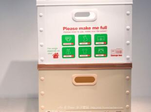 家庭收纳用具整理用具 环保无味PVC塑料折叠无盖大号PVC收纳箱,收纳箱,