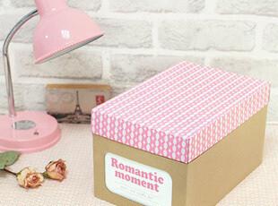 创意家居 韩国DIY收纳箱 纸质收纳盒桌面整理盒牛皮纸有盖储物盒,收纳箱,