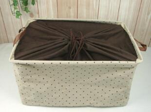 ZAKKA 日单外贸棉麻布艺可折叠收纳盒收纳筐有盖收纳箱 超大号,收纳箱,
