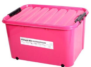 家用工具衣物塑料整理箱盒 大中小号储物百收纳箱盒子 带轮子包邮,收纳箱,