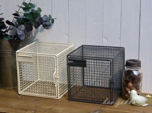 BAO ZAKKA 杂货 复古 铁网 方形 有盖 可插标签 收纳箱 2色可选,收纳箱,