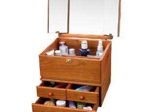8.5特价免邮 结婚礼物 大容量 实木化妆箱 化妆用品/首饰 收纳箱,收纳箱,