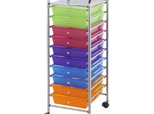 10层大容量 抽屉式收纳柜塑料 办公用品收纳整理多层收纳箱置物架,收纳箱,