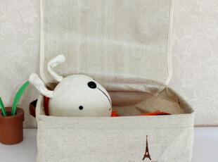 瑞娜 zakka棉麻复古布艺收纳盒 玩具收纳盒 衣物收纳箱 收纳袋,收纳箱,